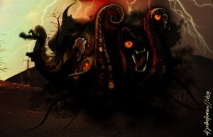 Shub-Niggurath, the Black Goat by fallenRazziel