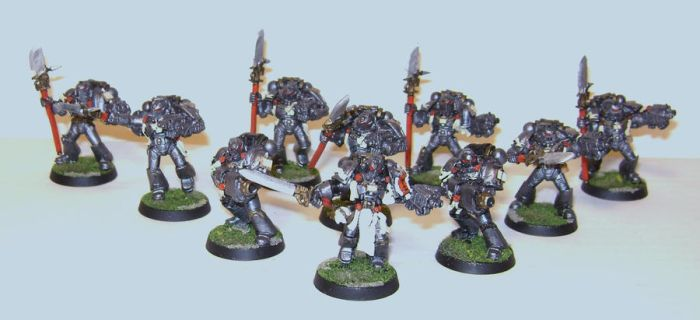 Grey Knights with psycannon by BaadKarmah