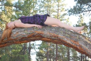 Laying on a tree by Faerie-Realm-Stock