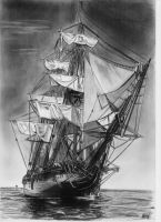HMS Surprise drawing by alainmi
