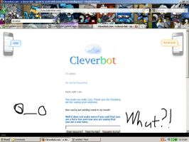 Cleverbot round 3 by Dragonuv3