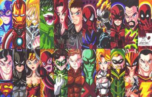 Marvel and DC Bookmarks 03 by d13mon-studios