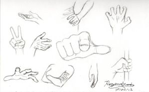 Hand sketches by Rozen-Guarde