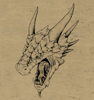 Dragon Head Tutorial by LadyAway