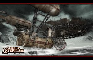 Airship Enterprise widescreen by DaneRot