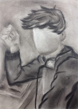 Self Portrait ~ Charcoal by Kachu-AppleKiwi