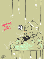 waiting for sleep. :tegaki e: by oober-zombie