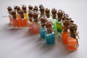Earring bottles by RadiumIridium