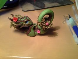 Baby Golden Leaf Dragon WIP by LittleDragonDesigns