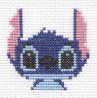 Stitch from Lilo and Stitch cross stitch by Lil-Samuu