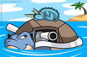 Pokeddexy Day 18 and 19: Blastoise and Vaporeon by KevinGibes