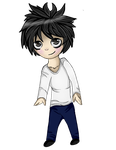 Death note L chibi by Rainyee