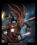 Guardians of the Galaxy Rocket Racoon and Groot by Alexis-Kurosawa