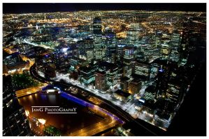 Melbourne Skyline by jawg1982
