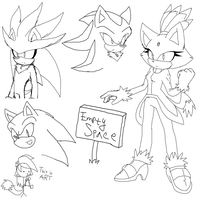 Sonic mouse doodles by KyuubiCore