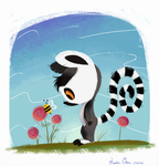 @Daily_Doodles-Baby Lemur and a Bee by Jazzekat