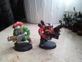 some of my old orks 1 by skincoffin