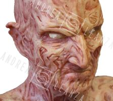 Freddy Krueger silicone mask by andrealeanzasfx