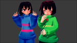 (MMD) Making Chara laugh by butterflyteto