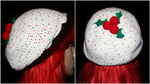 Figgy Pudding Cupcake Slouchy Beret by rainbowdreamfactory