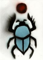 Spraypaint: Sun Scarab by kingtut98