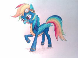 Rainbow Dash: the Wonderbolt by koscian