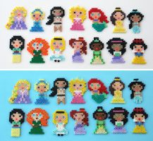 Mini Disney Princesses by ThePlayfulPerler