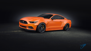 Mustang RTR front by SergioBL