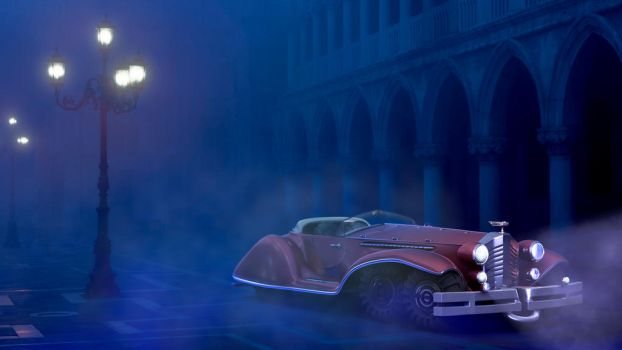 3D car and implementation in a real scene 03 by AcalvoF