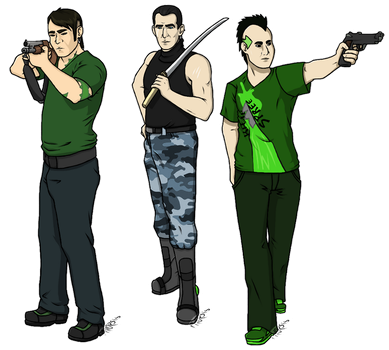 AT: Sully, Sam, and Yoshi by MsPtilopsis