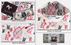 Slenderman Money Envelope by elvaniel