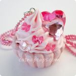 I Heart Bows Pink Necklace by CatNapCaps