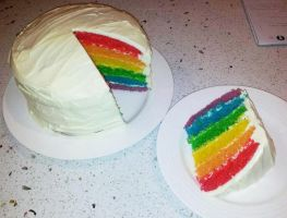Rainbow Cake by RedVelvet456