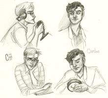Cecil and Carlos sketches by acbardwil