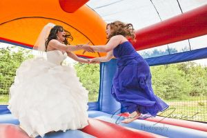 Wedding Bounce House Bride and Maid of Honor by a-girl-like-me
