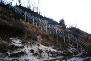 Beach stairs by PureIdiocy