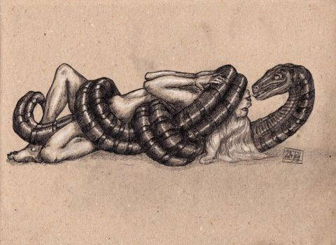 The embrace of the Ssssnake by Promet-he-us