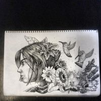 And she had flowers in her hair... by Iggy452001