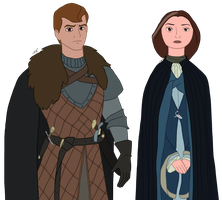 Disney x GoT - Robb and Catelyn by Qemma