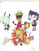 Zim greater than Spongebob by IWL-Nutritious
