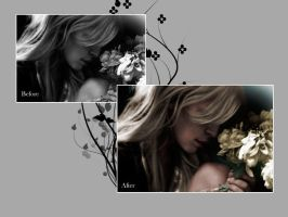 Clemence Poesy B_W to Color_2 by teratini