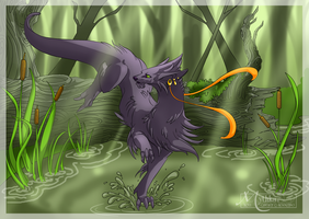 A Run in the Forest by Mythka