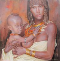 Mother and Child by kowelvain