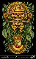 Inca Sun god Totem by Sam-Phillips-NZ