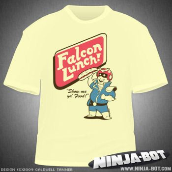 Falcon Lunch T-Shirt Design by StacMaster-S