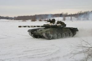 Finnish T-72 also the first snow. by Silver87553