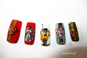 Borderlands Nails by swapthat