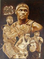lebron james finished by burninginkworks