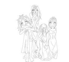 Dress up lineart fer teh color by linzi-chan