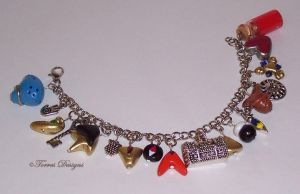 Ocarina of Time Charm Bracelet Zelda #14 by TorresDesigns